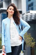 asos jacket - 31 Phillip Lim bag - asos blouse - Topshop pants - Topshop heels
