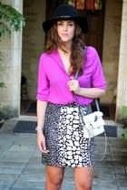 asos hat - Sportsgirl bag - PERSUNMALL skirt - ELLIATT blouse - asos heels