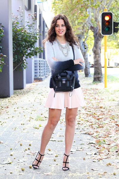 Elm sweater - asos dress - 31 Phillip Lim bag - asos heels - new look necklace