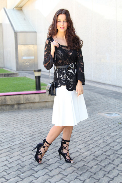 asos top - Mango bag - Witchery skirt - asos belt - Windsorsmith heels