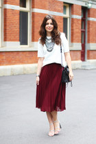 asos skirt - 31 Phillip Lim bag - asos heels - asos top - Topshop necklace