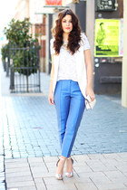Metallic Cobalt Trousers