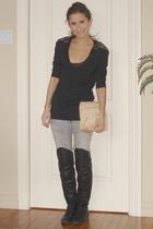 Zara sweater - Steve Madden boots - Zara pants - vintage Givenchy purse