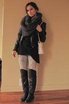 Steve Madden boots - 725 shirt - joe fresh style scarf - vintage purse