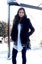 Urban Outfitters dress - Esprit cardigan - Newlook blazer - Zara vest - BCBG pur