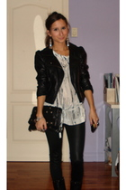 H&M jacket - Sillence & noise top - BCBG purse - H&M accessories