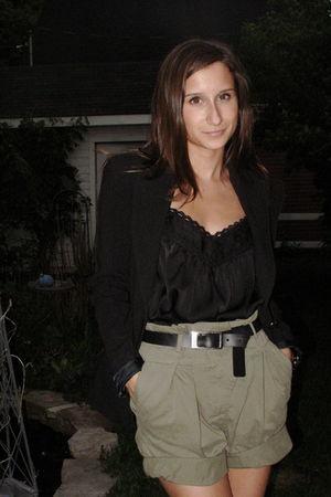 Zara blazer - Zara top - Zara shorts