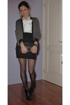 DIY skirt - vintage Jones New York blouse - Michael Kors cardigan - BCBG purse -