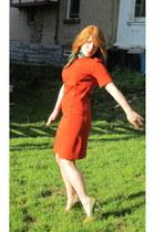dress - color block heels