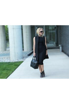 long H&M dress - long Sheinside vest