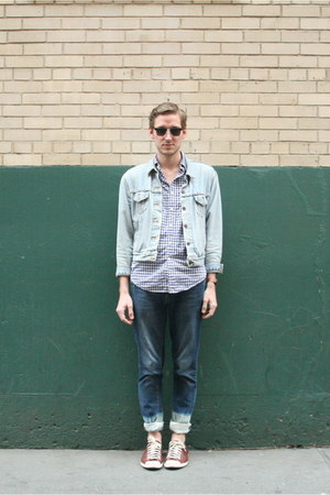 j crew band timex watch - Zara DIY jeans - jean Levis jacket