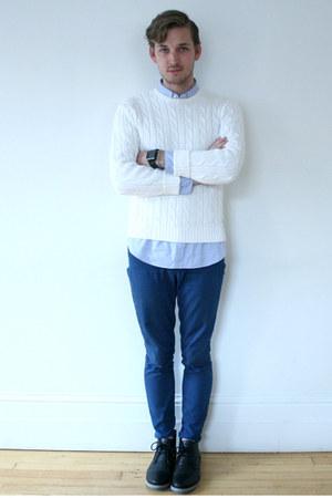 blue pants Gap pants - black blue sole Urban Outfitters shoes