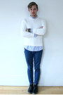 Black-blue-sole-urban-outfitters-shoes-white-cable-knit-rugby-sweater