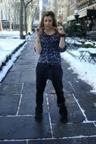 H&M blouse - Zara pants - Minnetonka shoes