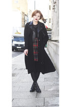 Topshop jacket - leather Urban Outfitters shoes - trench H&M coat
