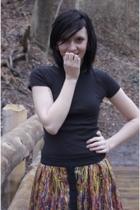 Target t-shirt - boots - Target skirt
