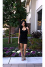 Bandage-forever-21-dress-nude-sequins-ebay-bag-black-oasap-sandals