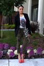 Black-forever-21-blazer-black-zebra-style2bb3-bag-coral-suede-gojane-heels