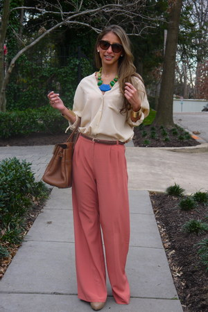 asos pants - Tinley Road boots - Mulberry bag - David Aubrey necklace