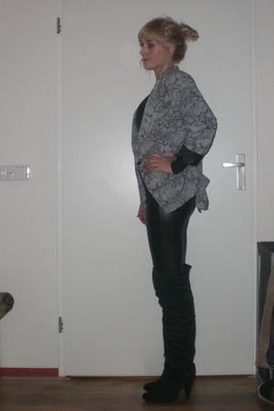 Primark blazer - Only shirt - Bershka pants - Primark boots