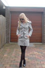 Silver-zara-coat-white-h-m-shirt-black-diy-skirt-black-unknown-shoes-bla
