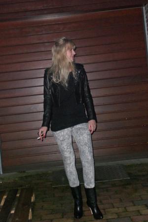 black River Island shirt - black Divided exclusive jacket - silver just female j