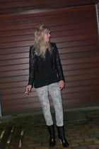 black River Island shirt - black Divided exclusive jacket - silver just female j