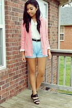 bubble gum blazer blazer - light blue shorts Ralph Lauren shorts