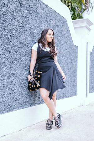 Zara dress - Jeffrey Campbell shoes - Gap shirt - Express bracelet