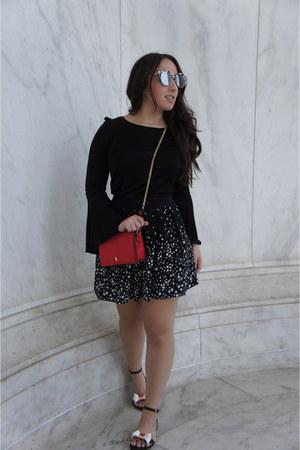 Zara bag - Zara shorts - Steve Madden sunglasses - ted baker sandals