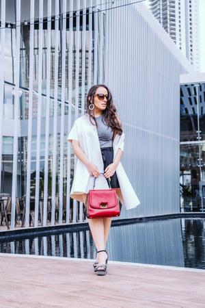 Forever 21 sunglasses - Fendi bag - Zara shorts - JCrew earrings