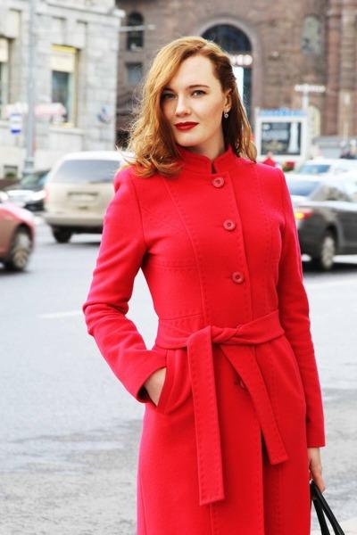 Vintage Red Coat | Down Coat