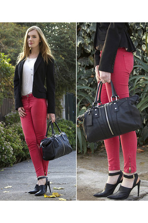 Topshop jeans - ruby red milly bag