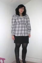Old Navy shirt - Old Navy skirt - Target - Secondhand boots