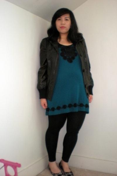 Target jacket - H&M - Target leggings - Lela Rose for Payless