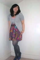 forever 21 sweater - - kohls belt - Secondhand skirt - Target -