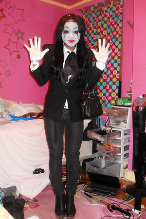 black black blazer blazer - black Miss Sixty jeans - white H&M shirt - black Jef