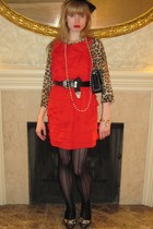 beige Roberto Rodriguez sweater - red 31 phillip lim dress - black Vintage Ralph