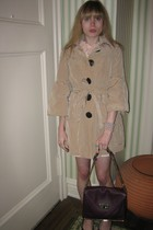 Nanette Lepore coat - Valentino Red dress - Vintage costume necklace - Chloe Sal