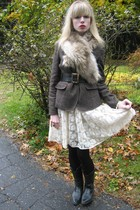 jacket - Lil dress - vintage chanel belt - scarf - Agatha earrings - costume bra