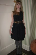 31 phillip lim dress - linea pelle belt - earrings - Tintoretta tights - delman