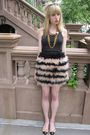 Black-hanes-top-black-31-phillip-lim-skirt-white-vintage-necklace-gold-vin