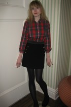 Ralph Lauren top - 31 phillip lim skirt - Vintage costume earrings - tights - de