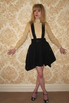 eggshell vintage blouse - light pink milly intimate - black 31 phillip lim skirt