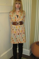 beige Vintage Missoni sweater - black Nanette Lepore dress - brown linea pelle b