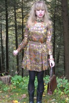 Marc by Marc Jacobs dress - vintage saks fifth ave belt - costume earrings - cos