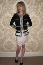 navy Diane Von Furstenberg jacket - ivory 31 phillip lim skirt - eggshell vintag