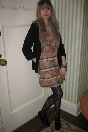 Elizabeth and James jacket - Jill Stuart dress - Chanel necklace - Vintage costu