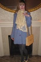 blue Marc by Marc Jacobs coat - beige Deena & Ozzy belt - beige antique scarf -