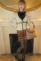 beige Valentino Red jacket - black Ralph Lauren top - orange See by Chloe dress